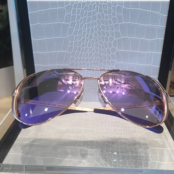 3ff51c9c0ad MICHAEL KORS AVIATOR SUNGLASSES PURPLE MIRROR